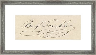 Benjamin Franklin, 1706-1790 Framed Print by Vintage Design Pics