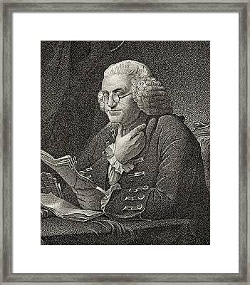 Benjamin Franklin 1706 To 1790 American Framed Print by Vintage Design Pics