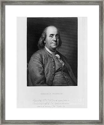 Benjamin Franklin Framed Print by Celestial Images