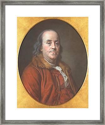 Benjamin Franklin Framed Print by Jean Valade