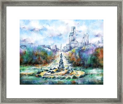 Benjamin Franklin Parkway 2 Framed Print by Bekim Art