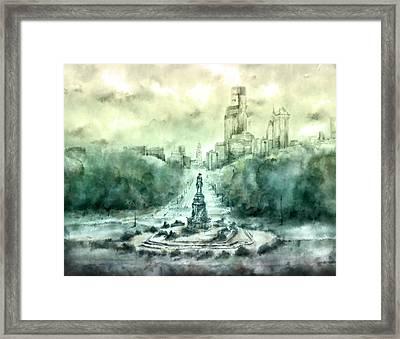 Benjamin Franklin Parkway Framed Print by Bekim Art