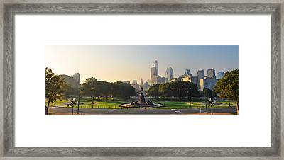 Benjamin Franklin Parkway View Framed Print by Bill Cannon