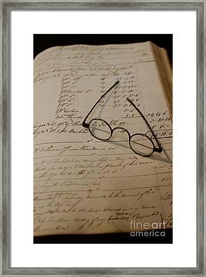 Benjamin's Glasses Framed Print by Rick  Monyahan