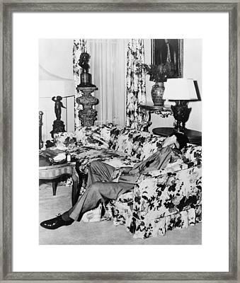 Benny Bugsy Siegel 1906-1947, Shot Dead Framed Print by Everett