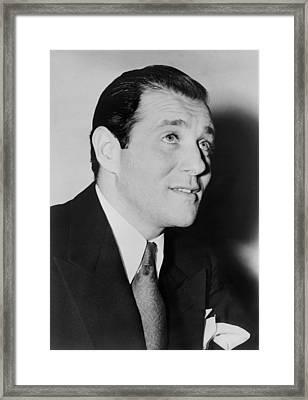 Benny Bugsy Siegel In 1947, The Year Framed Print by Everett