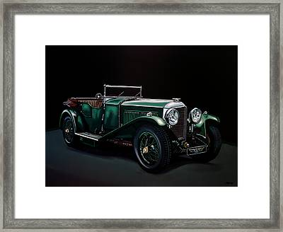 Bentley Open Tourer 1929 Painting Framed Print by Paul Meijering