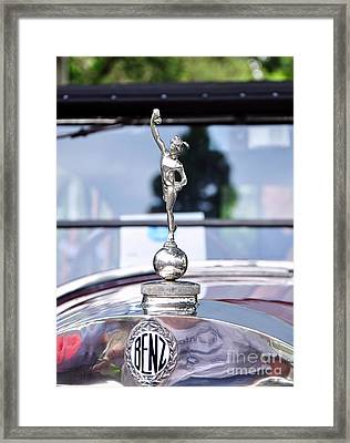 Benz 1916 Ds2 - Hood Ornament And Badge Framed Print by Kaye Menner