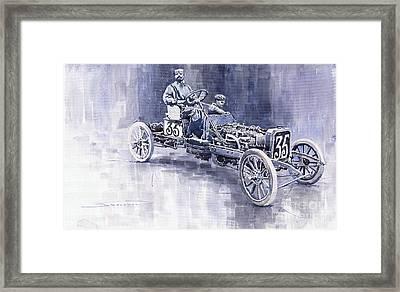Benz 60hp Targa Florio Rennwagen 1907 Framed Print by Yuriy  Shevchuk