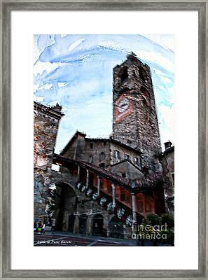 Bergamo Alta Framed Print by Paolo Bianchi