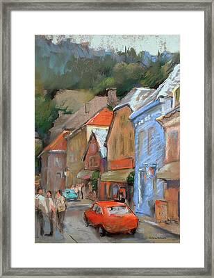 Bergen Sentrum Framed Print by Joan  Jones