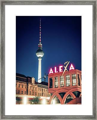 Berlin - Alexa Centre Framed Print by Alexander Voss