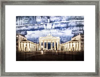 Berlin Brandenburg Gate In Detail Framed Print by Melanie Viola