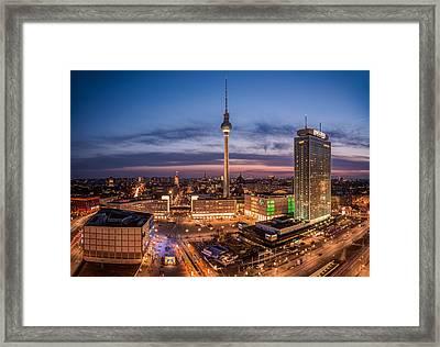 Berlin - Skyline Alexanderplatz  Framed Print by Jean Claude Castor