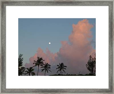 Bermuda Morning Moon Framed Print by Richard Reeve