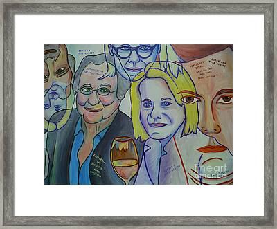 Bernie And Ruth Madoff Framed Print by Paddy Shaffer