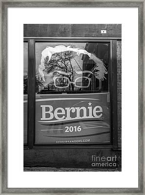 Bernie Sanders Claremont New Hampshire Headquarters Framed Print by Edward Fielding