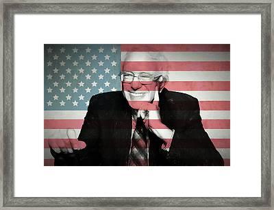 Bernie Sanders Framed Print by Dan Sproul