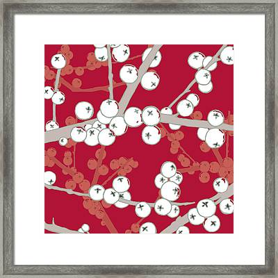 Berry Bright Framed Print by Sarah Hough