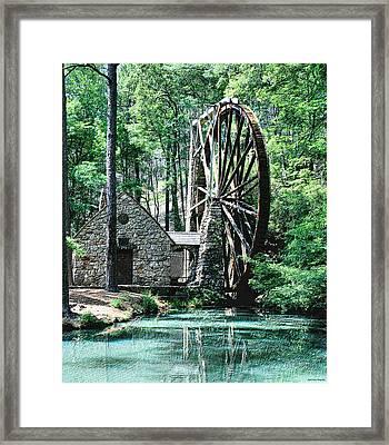 Berry' Old Mill In Pencil Framed Print by Johann Todesengel
