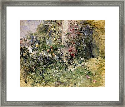 Berthe Morisot Jardin A Bougival The Garden At Bougival Framed Print by MotionAge Designs