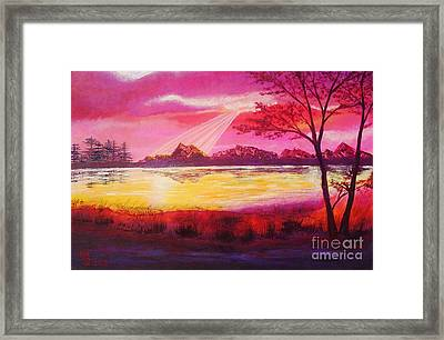 Beside The Golden River Framed Print by Mario Lorenz