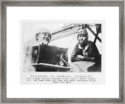 Bessie Coleman, Us Aviation Pioneer Framed Print by Schomburg Centernew York Public Library