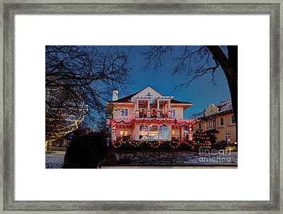 Best Christmas Lights Lake Of The Isles Minneapolis Framed Print by Wayne Moran