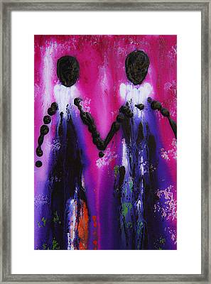 Best Friends Forever - Bff Love And Devotion Art Framed Print by Sharon Cummings
