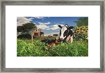Best Friends Forever  Framed Print by Mary Almond