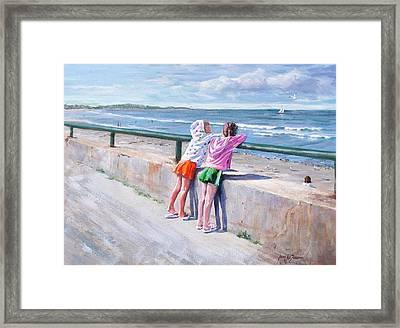 Best Friends Framed Print by Laura Lee Zanghetti