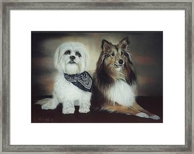 Best Friends Framed Print by Nanybel Salazar