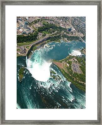 Best Photographs Of Niagara Falls Framed Print by John Malone