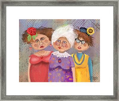 Bestfriendsforever Framed Print by Arline Wagner
