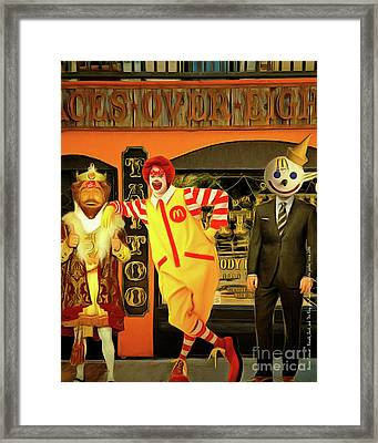 Besties Forever Ronald Jack And The King Gets Head Tattoos At The Parlor 20160625 Vertical Framed Print by Wingsdomain Art and Photography