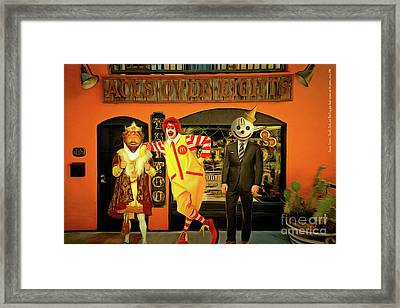 Besties Forever Ronald Jack And The King Gets Head Tattoos At The Parlor 20160625 Framed Print by Wingsdomain Art and Photography
