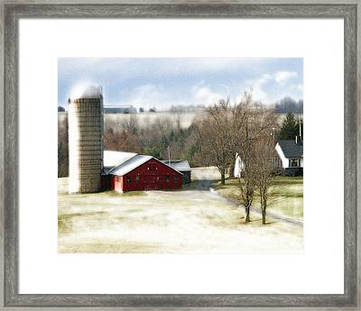 Bethel Barn Framed Print by Tom Romeo
