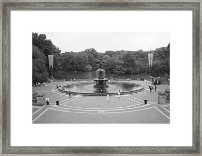 Bethesda Fountain Central Park New York Framed Print by Christopher Kirby