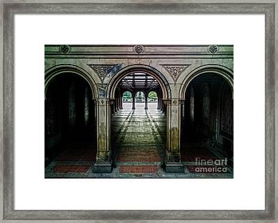 Bethesda Terrace Arcade 1 Framed Print by James Aiken