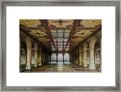 Bethesda Terrace Arcade 3 Framed Print by James Aiken