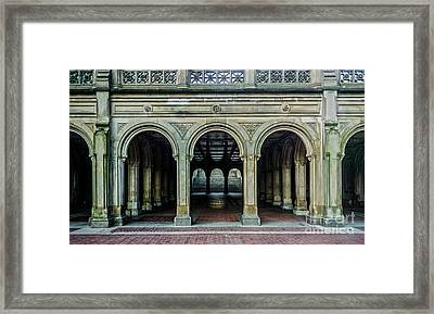 Bethesda Terrace Arcade 4 Framed Print by James Aiken