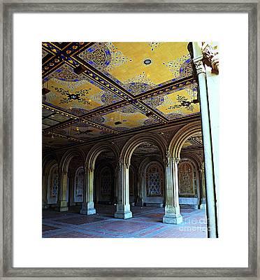Bethesda Terrace Arcade In Central Park Framed Print by James Aiken