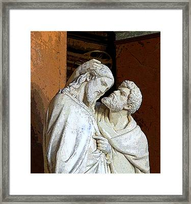 Betrayed By A Kiss Framed Print by Mindy Newman