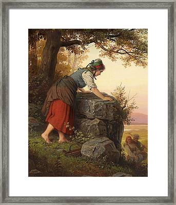 Betrayed Framed Print by Johann Georg Meyer