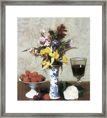 Betrothal Still Life Framed Print by Henri Fantin Latour
