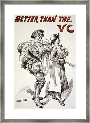 Better Than The Vc Framed Print by Harry Furniss
