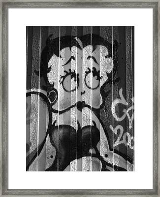 Betty Boop ... Framed Print by Juergen Weiss