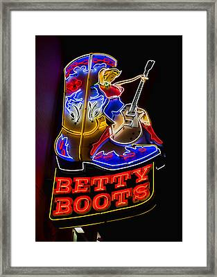 Betty Boots Framed Print by Stephen Stookey