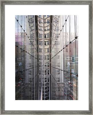 Between Glass Walls Framed Print by Rona Black