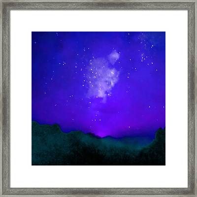 Starry Night - Zen Framed Print by Stacey Chiew